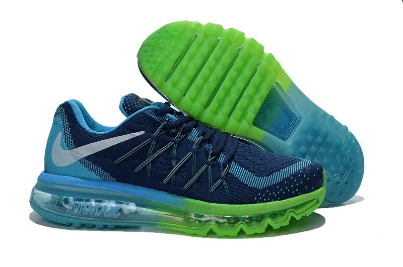 16b905aa4c02 Mens Nike Air Max 2015 Flyknit Dark Blue Green Jade Shoes  NK748 ...