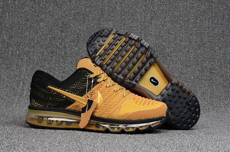 sports shoes d861b 460be Mens Nike Air Max 2017 KPU Gold Black Shoes