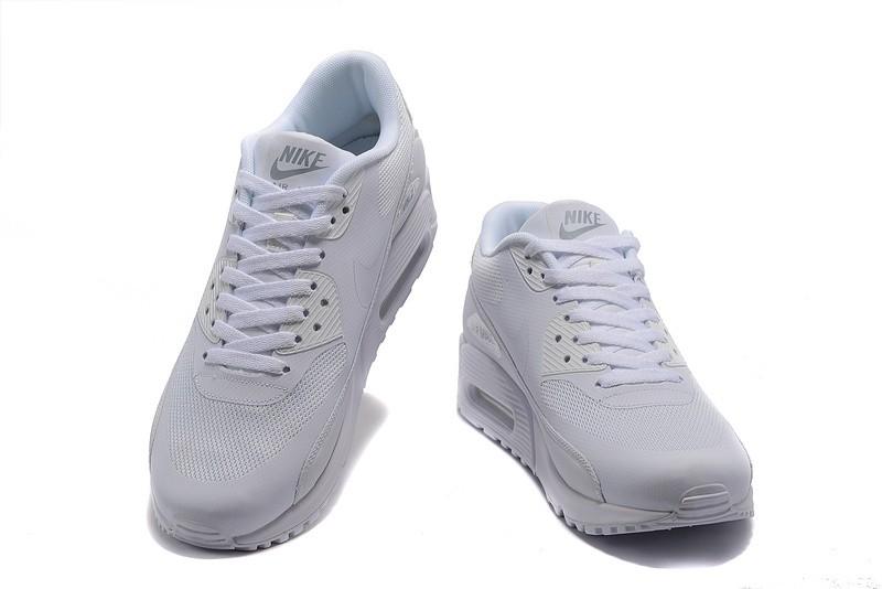 sale retailer b45b7 37d2c ... Mens Womens Nike Air Max 90 Ultra 2.0 Essential Running Shoes Triple  White All ...